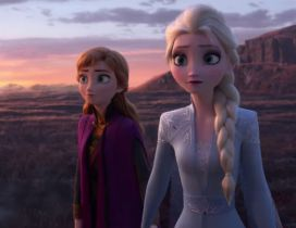 Two sisters - Ana and Elsa in Frozen 2 - Animation movie