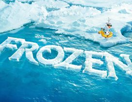 Olaf at swimming - Funny photo for Frozen 2 Disney movie