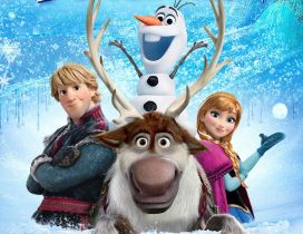 Say hi friends - Elsa Olaf and Reindeer from Frozen 2 movie