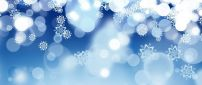Blue background - Wonderful abstract winter snowflakes