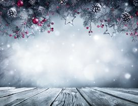 Christmas decor for photo - Happy Winter Holiday