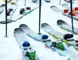 Ski Swaps full with snow - winter sport cold time