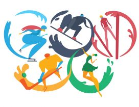 Sports on Olympic Rings - Tokyo 2020