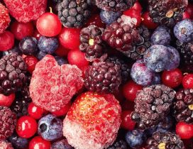 Delicious frozen berries fruits - Make a special cake