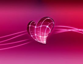 Wonderful digital art design-Pink heart on a pink background