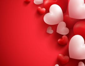 Love wallpaper with red and white hearts - Valentines Day