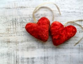 Red hearts love pure Happy Valentines Day