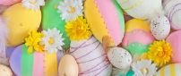 Wonderful painted eggs - Rainbow colors on the wall