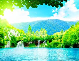 Magic place for a special summer holiday - Blue water nature