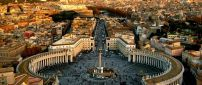 Saint Peter's Square Vatican City Italy country- Visit place
