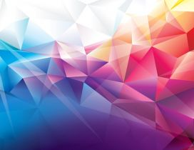 3D colorful paper origami shape - HD wallpaper