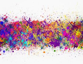 Abstract painting colorful mobile wallpaper