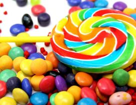 Delicious lollipops - Color flavour sweet candy
