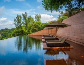 Need time for you - Natural Pool relaxing time summer season