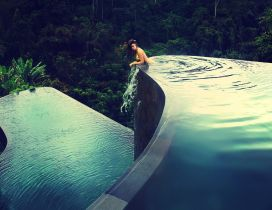Infinity pool on the mountain - Wonderful nature view