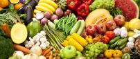 Vitamins on a wallpaper - Fruits and vegetable rainbow style