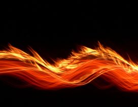 Orange fire on a dark background - HD wallpaper