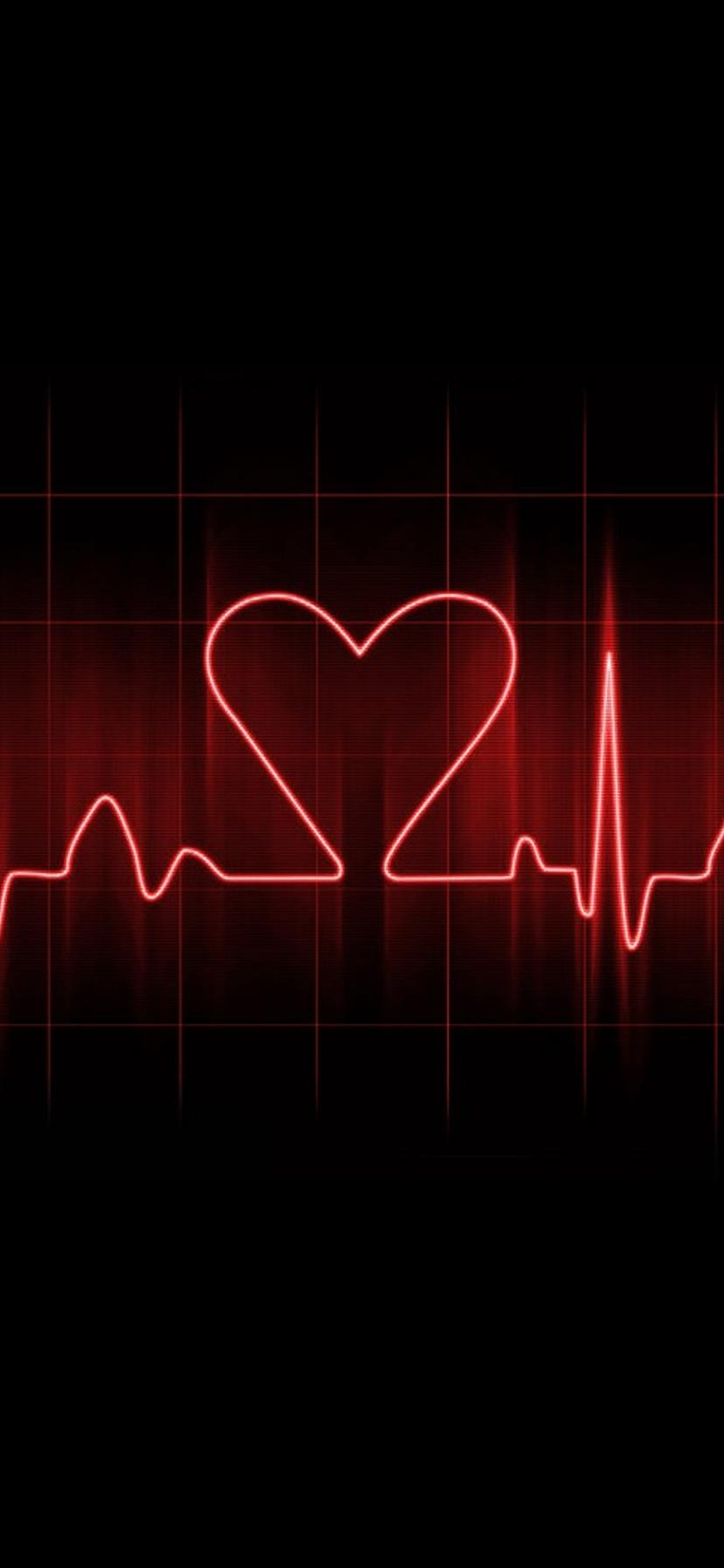 Heart Pulse On A Dark Background Love Wallpapers
