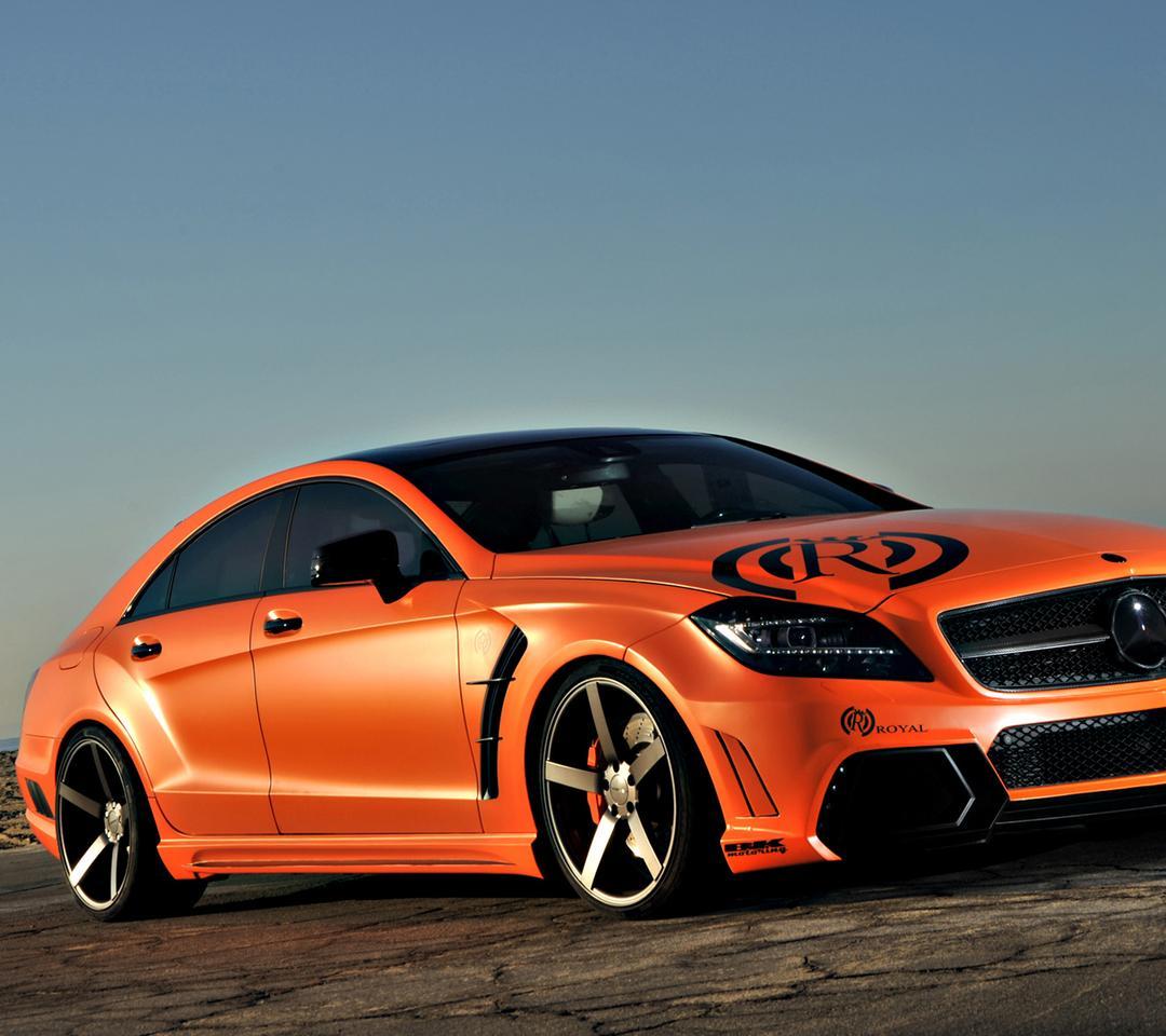 Orange Vorsteiner Mercedes Benz E Class