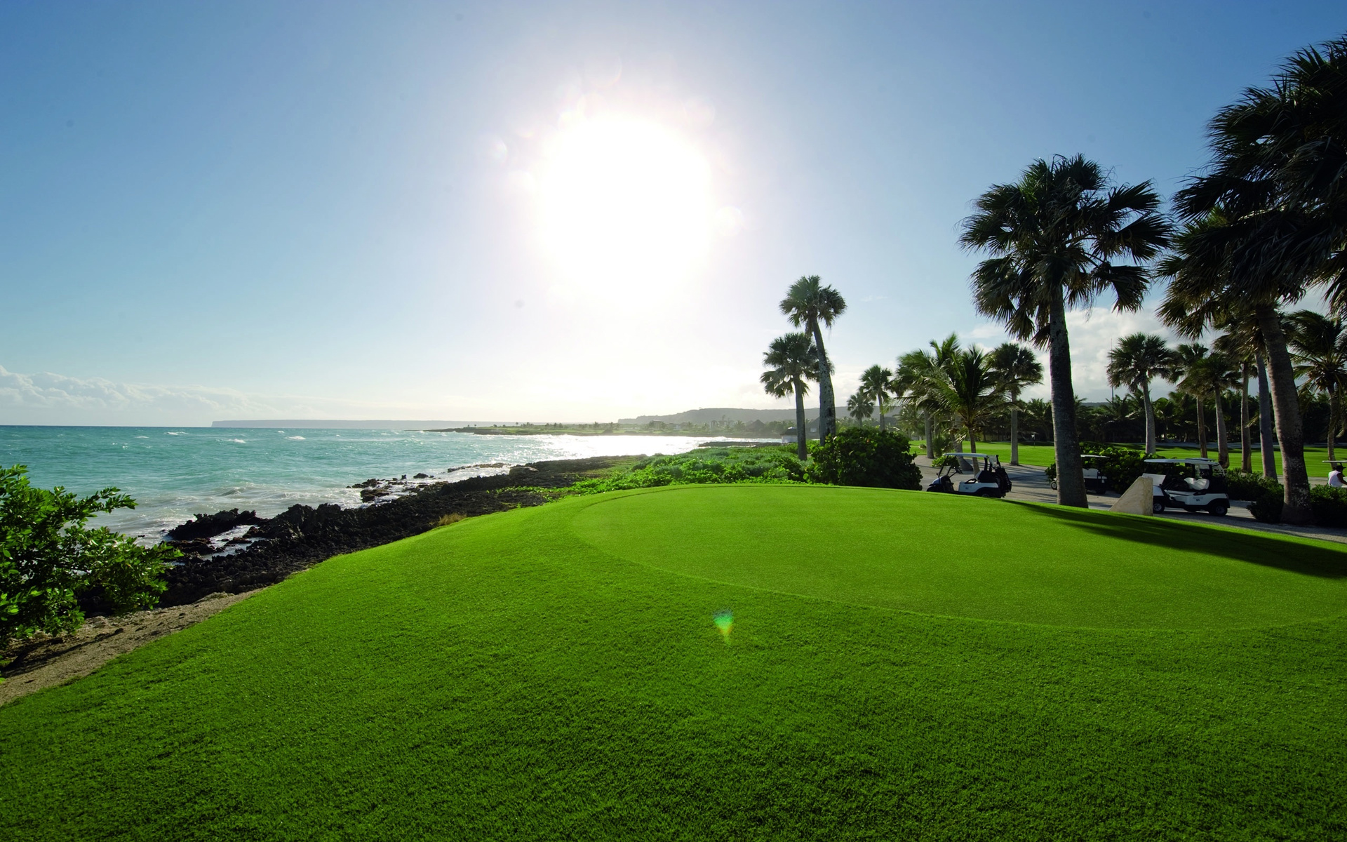 Golf Course On The Shore Of Sea