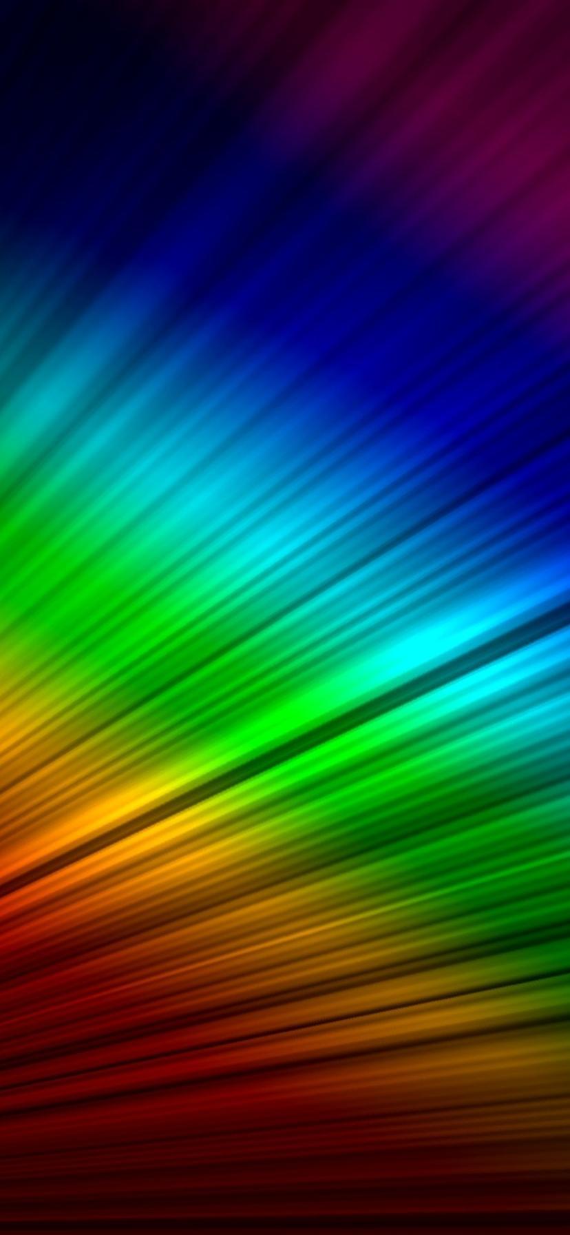 Rainbow On The Desktop Hd Wallpaper