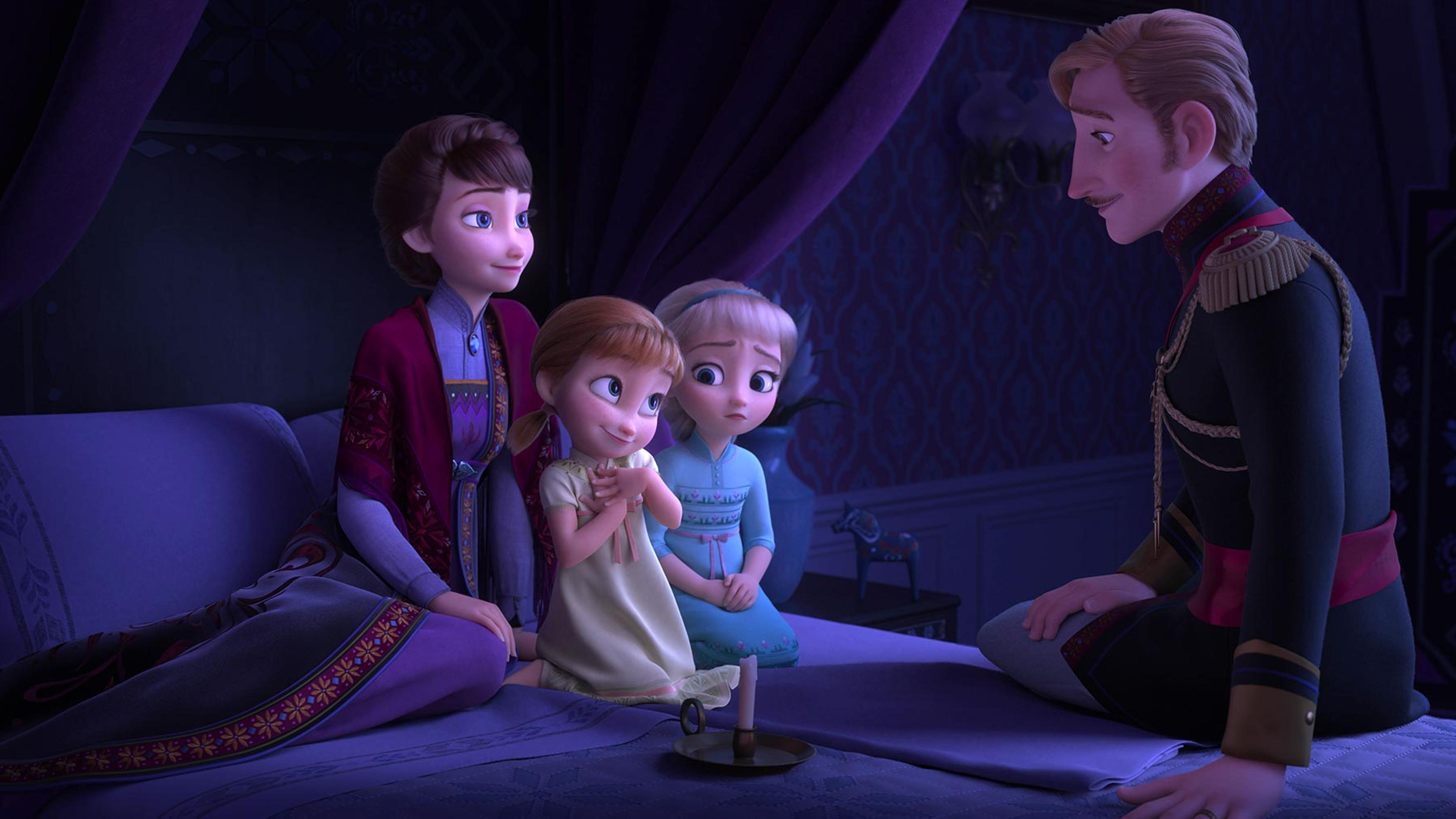 Frozen 2 Scene Anna And Elsa With Parents