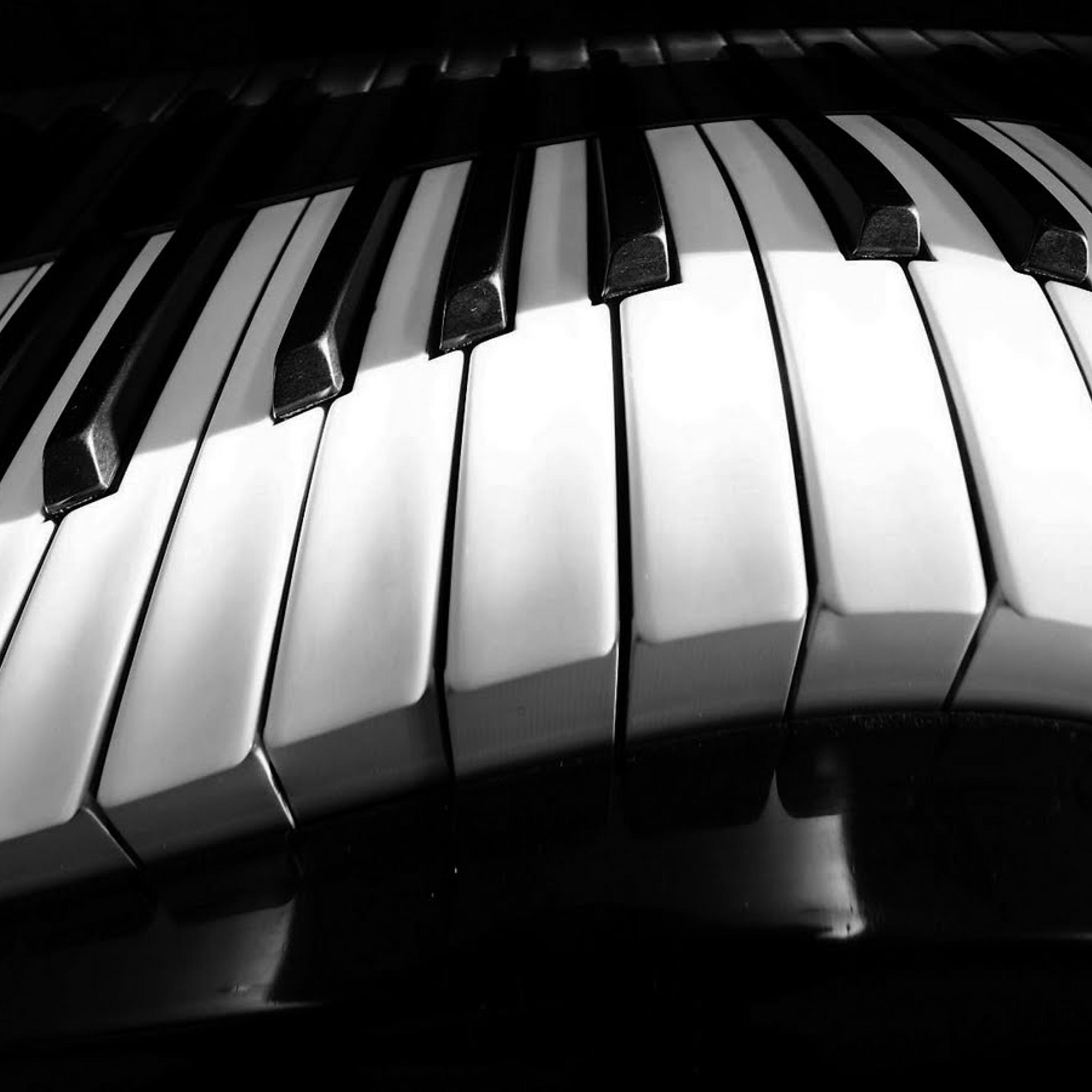 A Curved Piano White And Black Hd Wallpaper