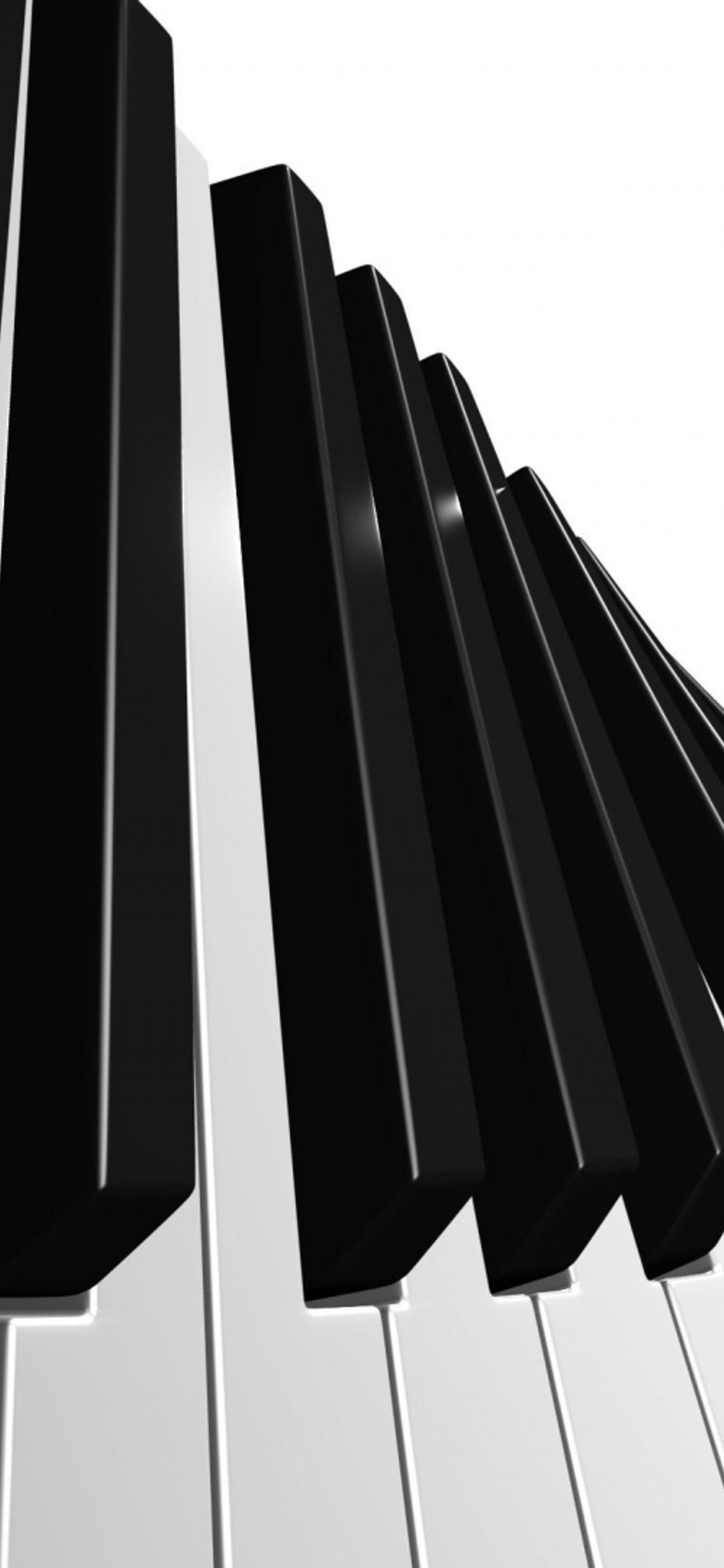 Abstract Piano Keys White And Black Wallpaper