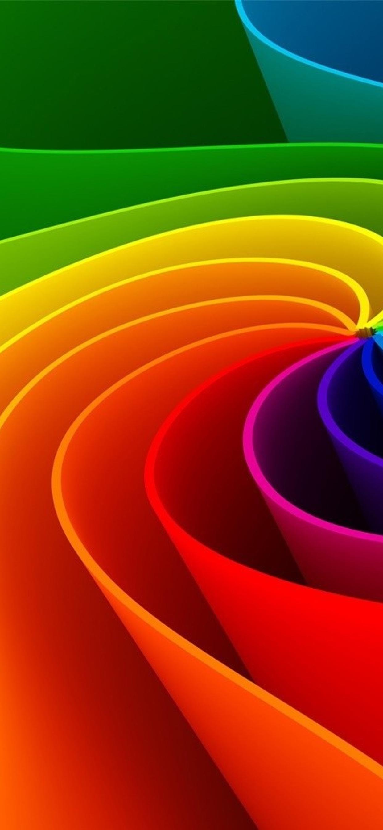 Rainbow Paper Shapes Hd Wonderful Wallpaper